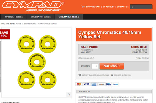 Cympad store powered by Shopatron