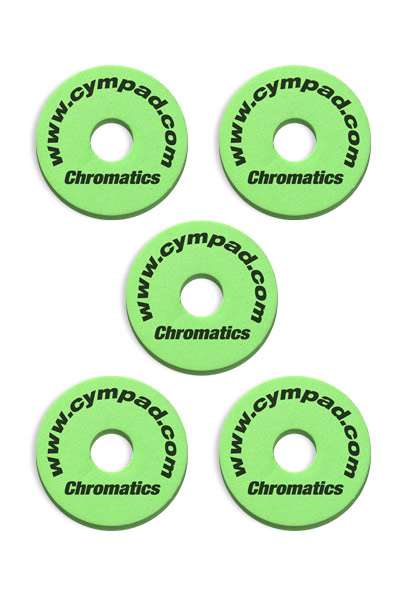 Cympad-Chromatics-Set-Green Cymbal Pad