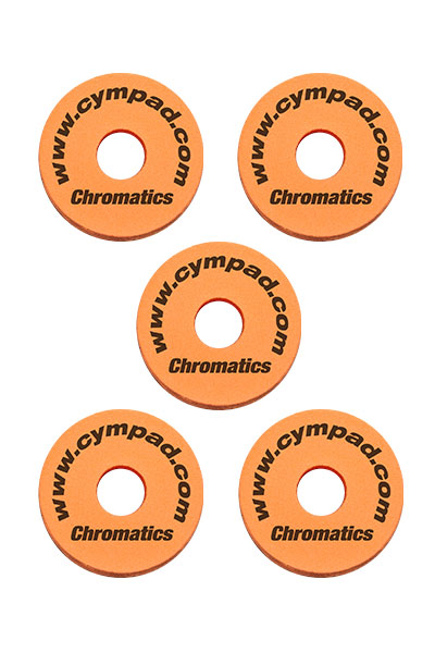 Cympad-Chromatics-Set-Orange Cymbal Pad